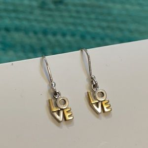 Love earrings Bimetal 2 tone Philly LOVE